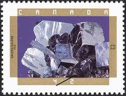 Galena Canada Postage Stamp   Canadian Minerals