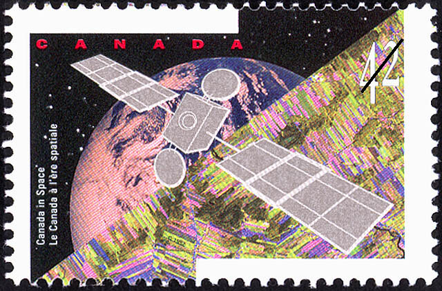 Satellite Canada Postage Stamp | Canada in Space