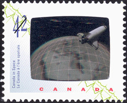 Space Shuttle Canada Postage Stamp