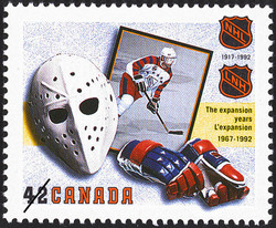 The Expansion Years, 1967-1992 Canada Postage Stamp | The National Hockey League, 1917-1992