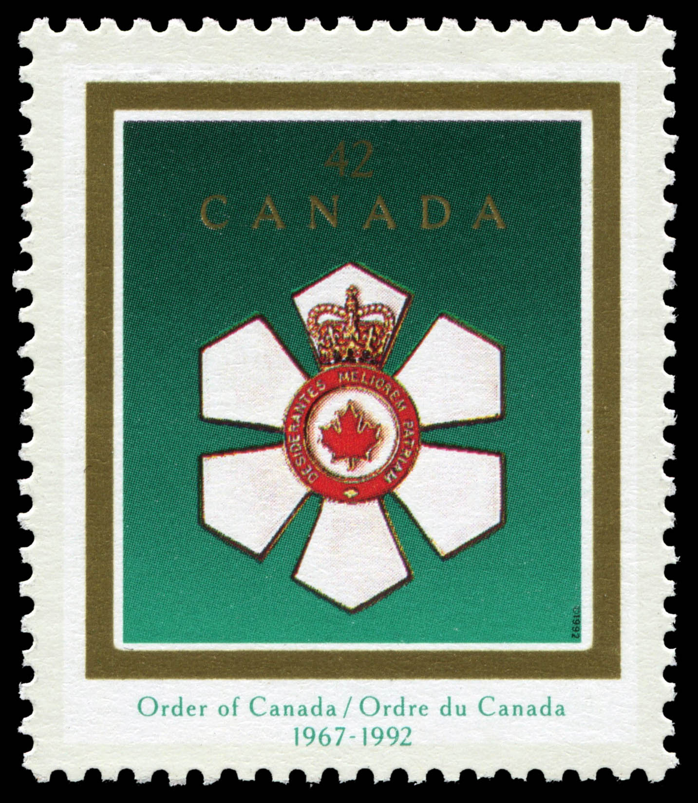 Order of Canada, 1967-1992 Canada Postage Stamp