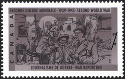 War Reporting Canada Postage Stamp | The Second World War, 1942, Dark Days Indeed