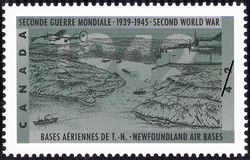 Newfoundland Air Bases Canada Postage Stamp