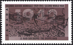 The Dieppe Raid Canada Postage Stamp | The Second World War, 1942, Dark Days Indeed