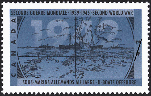 U-Boats Offshore Canada Postage Stamp | The Second World War, 1942, Dark Days Indeed