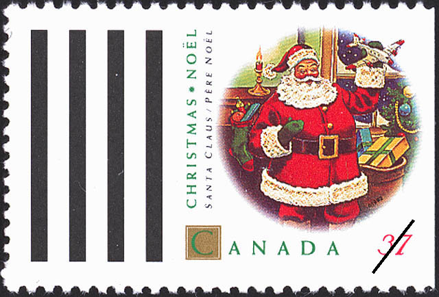 Santa Claus Canada Postage Stamp | Christmas, Christmas Personages