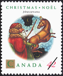 Jõuluvana Canada Postage Stamp | Christmas, Christmas Personages