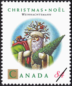 Weihnachtsmann Canada Postage Stamp | Christmas, Christmas Personages