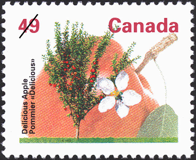 Delicious Apple Canada Postage Stamp