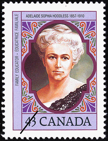 Adelaide Sophia Hoodless, 1857-1910, Family Educator Canada Postage Stamp | Canadian Women
