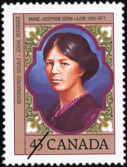 Marie-Josephine Gerin-Lajoie, 1890-1971, Social Reformer Canada Postage Stamp | Canadian Women