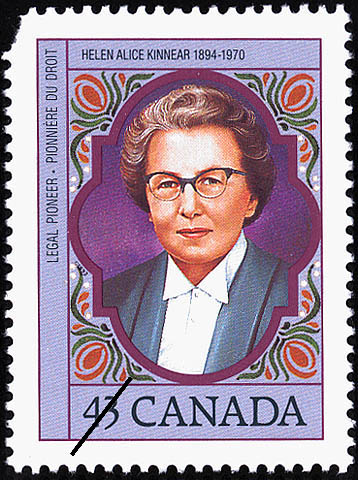 Helen Alice Kinnear, 1894-1970, Legal Pioneer Canada Postage Stamp
