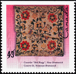 "Coverlet ""Bed Rugg"", New Brunswick Canada Postage Stamp 