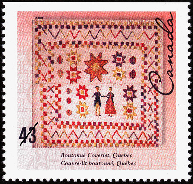 Boutonne Coverlet, Quebec Canada Postage Stamp