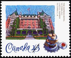 The Empress Hotel, Victoria, British Columbia Canada Postage Stamp | Historic Hotels