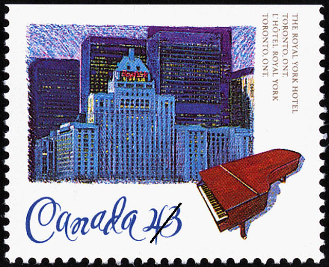The Royal York Hotel, Toronto, Ontario Canada Postage Stamp | Historic Hotels