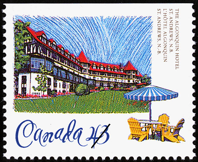 The Algonquin Hotel, St. Andrews, New Brunswick Canada Postage Stamp | Historic Hotels