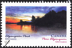 Algonquin Park, Ontario Canada Postage Stamp | Canada Day, Provincial and Territorial Parks