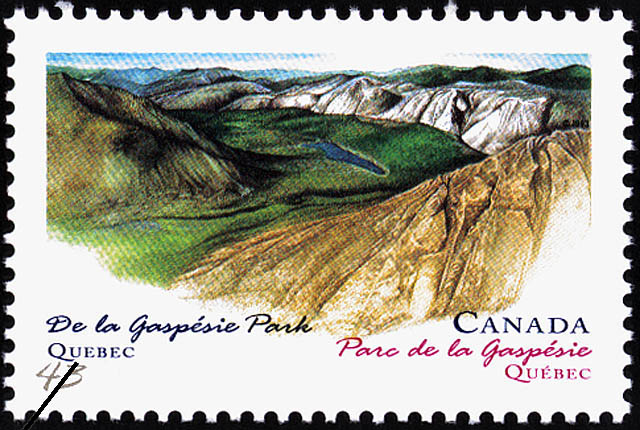 De la Gaspesie Park, Quebec Canada Postage Stamp | Canada Day, Provincial and Territorial Parks