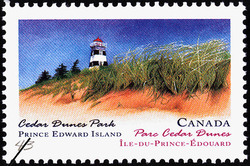 Cedar Dunes Park, Prince Edward Island Canada Postage Stamp | Canada Day, Provincial and Territorial Parks