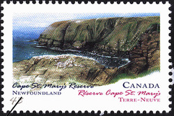 Cape St. Mary's Reserve, Newfoundland Canada Postage Stamp | Canada Day, Provincial and Territorial Parks