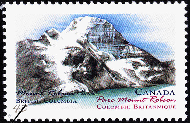 Mount Robson Park, British Columbia Canada Postage Stamp