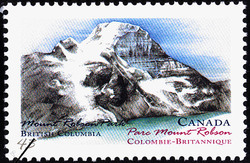 Mount Robson Park, British Columbia Canada Postage Stamp | Canada Day, Provincial and Territorial Parks