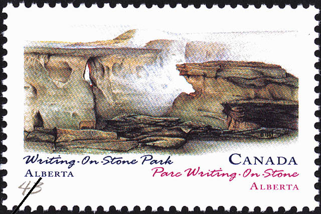 Writing-On-Stone Park, Alberta Canada Postage Stamp | Canada Day, Provincial and Territorial Parks