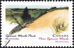 Spruce Woods Park, Manitoba Canada Postage Stamp | Canada Day, Provincial and Territorial Parks