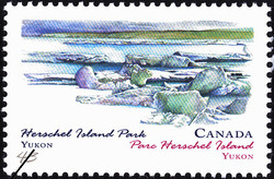 Herschel Island Park, Yukon Canada Postage Stamp | Canada Day, Provincial and Territorial Parks