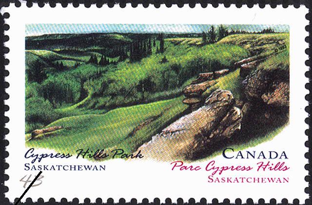Cypress Hills Park, Saskatchewan Canada Postage Stamp