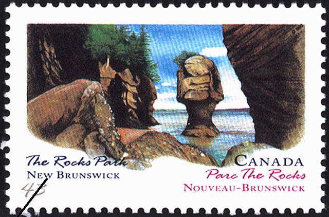The Rocks Park, New Brunswick Canada Postage Stamp | Canada Day, Provincial and Territorial Parks