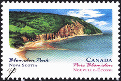 Blomidon Park, Nova Scotia Canada Postage Stamp | Canada Day, Provincial and Territorial Parks