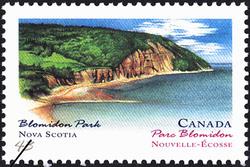 Blomidon Park, Nova Scotia Canada Postage Stamp | Canada Day, Provincial and Territorial Parks
