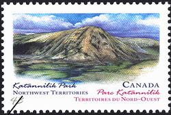 Katannilik Park, Northwest Territories Canada Postage Stamp | Canada Day, Provincial and Territorial Parks