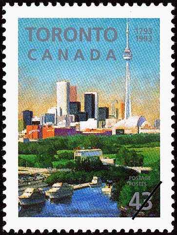 Toronto, 1793-1993 Canada Postage Stamp