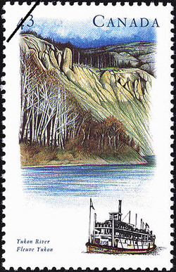 Yukon River Canada Postage Stamp | Canada's River Heritage, Routes of Settlement and Growth