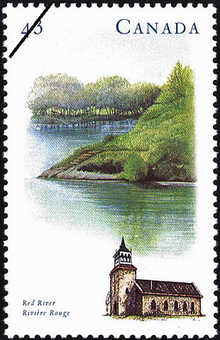 Red River Canada Postage Stamp | Canada's River Heritage, Routes of Settlement and Growth