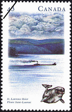 St. Lawrence River Canada Postage Stamp | Canada's River Heritage, Routes of Settlement and Growth