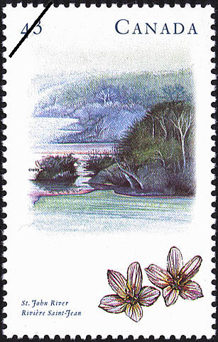 St. John River Canada Postage Stamp