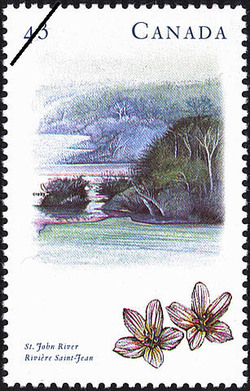 St. John River Canada Postage Stamp | Canada's River Heritage, Routes of Settlement and Growth
