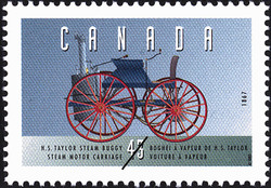 Henry Seth Taylor Steam Buggy, 1867, Steam Motor Carriage Canada Postage Stamp | Historic Land Vehicles, Personal Vehicles