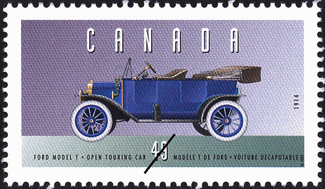 Ford Model T, 1914, Open Touring Car Canada Postage Stamp | Historic Land Vehicles, Personal Vehicles