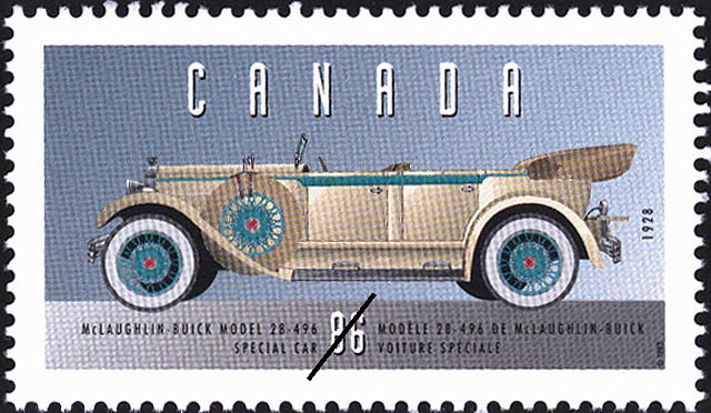 McLaughlin-Buick Model 28-496, 1928, Special Car Canada Postage Stamp | Historic Land Vehicles, Personal Vehicles