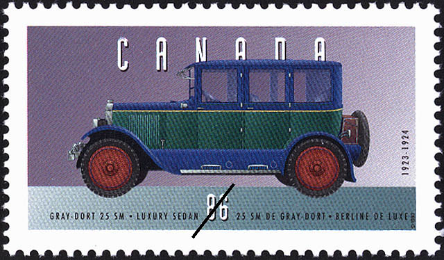 Gray-Dort 25 SM, 1923-1924, Luxury Sedan Canada Postage Stamp | Historic Land Vehicles, Personal Vehicles
