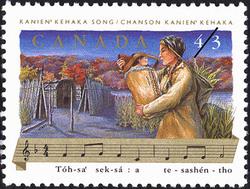 Kanien'kehaka Song, Tóh-sa' sek-sá : a te-sashen-tho Canada Postage Stamp | Folklore, Folk Songs