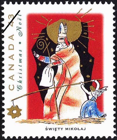 Swiety Mikolaj Canada Postage Stamp