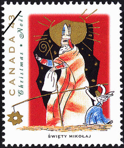 Swiety Mikolaj Canada Postage Stamp | Christmas, Christmas Personages