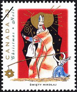 Swiety Mikolaj Canada Postage Stamp | Christmas, Christmas Personages