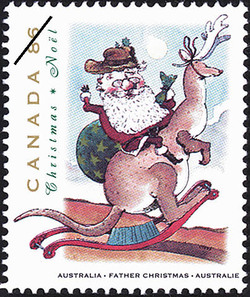 Father Christmas, Australia Canada Postage Stamp | Christmas, Christmas Personages